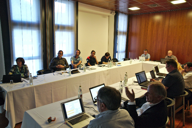 The project consortium and stakeholders in the meeting room (different perspective).