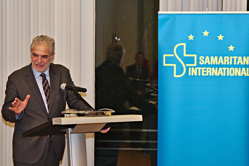 Commissioner Christos Stylianides addresses the audience