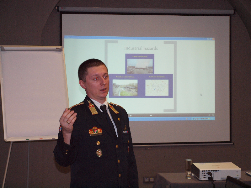 Dr. Tamás Hábermayer from the Hungarian ministry of the interior during his presentation